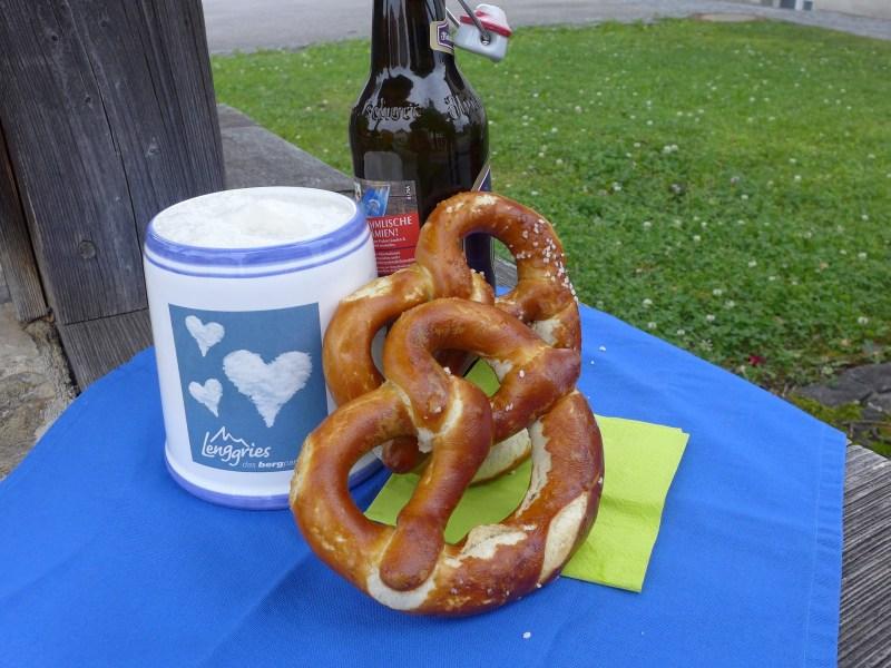 Bierkrug Brezel Bier Oktoberfest Pauschale Lenggries München Bayern
