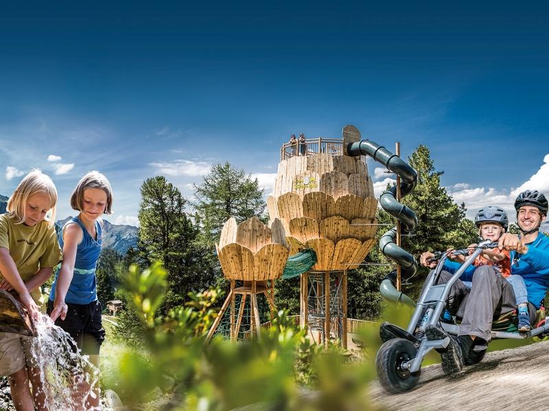 Zirbenpark Hochzeiger Pitztal Freizeit Familie Ausflug