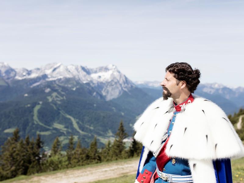 Kini, König Ludwig II, Zugspitz Region, Wanderwege