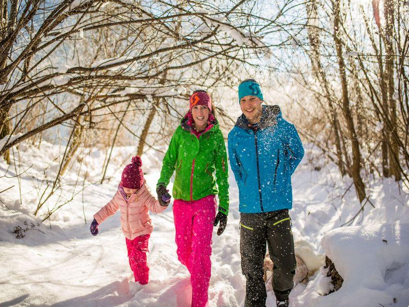Winterwandern, Schee, Familie, ZugspitzLand, Farchant