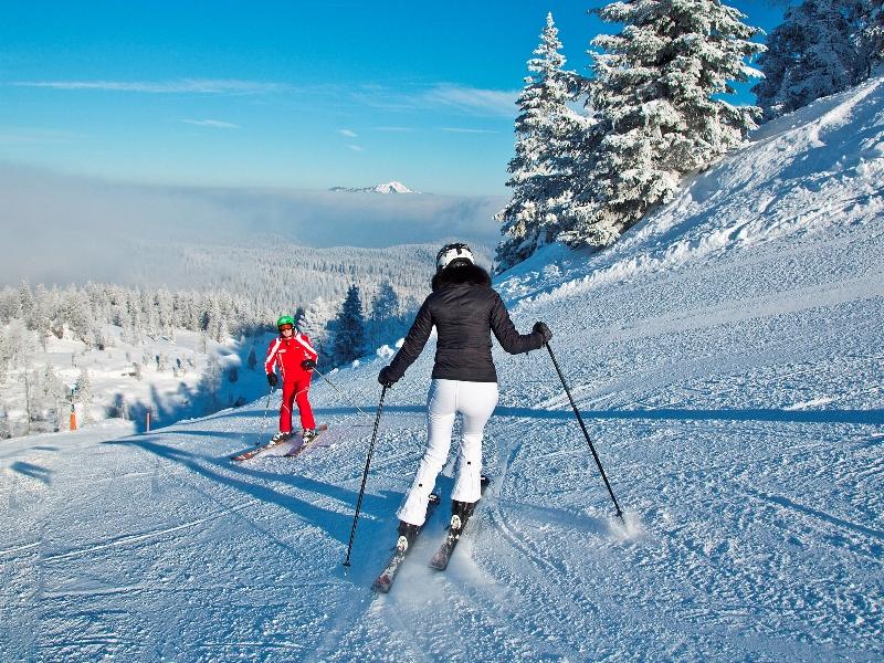 Skisafari Kitzbüheleralpen Skifahren Sport Winter Natur Schnee