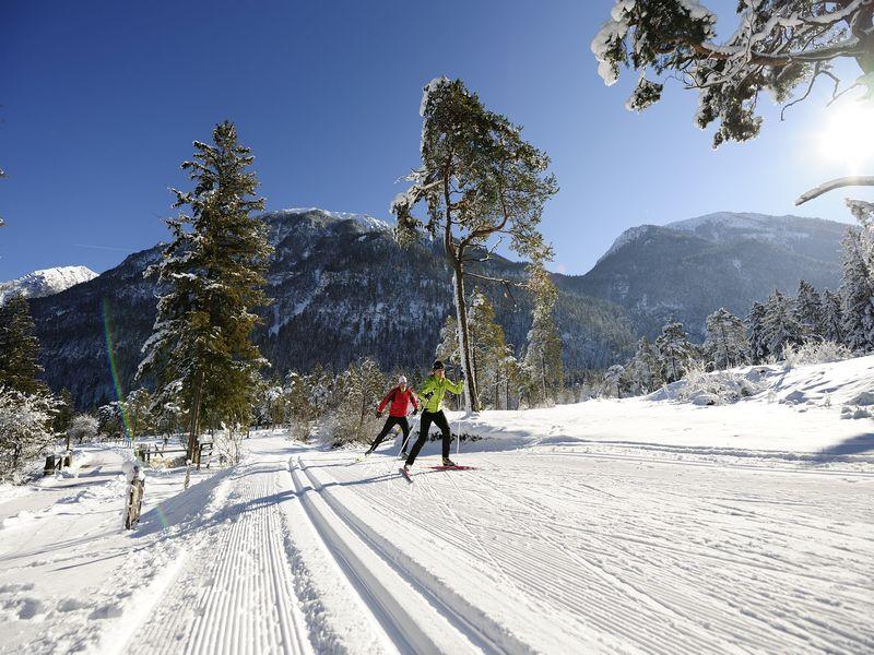 Langlaufen, Sanfter Wintersport, ZugspitzLand, Farchant