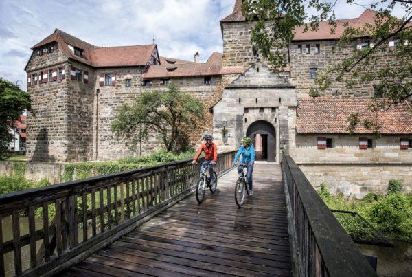 Fünf Flüsse Radweg im Nürnberger Land Fahrradtour Paare