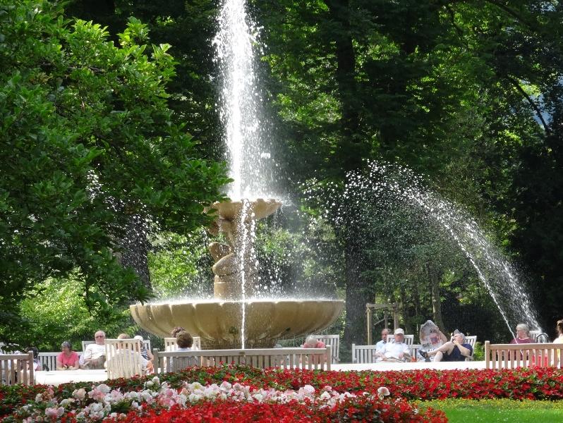 Bad Reichenhall Alpen Sole Brunnen Kurgarten 150 Jahre Park