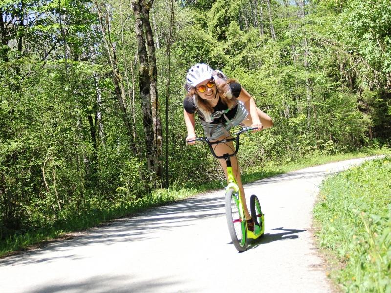 Scooter Radeln Lenggries Sport Ausflug Frühling Sommer