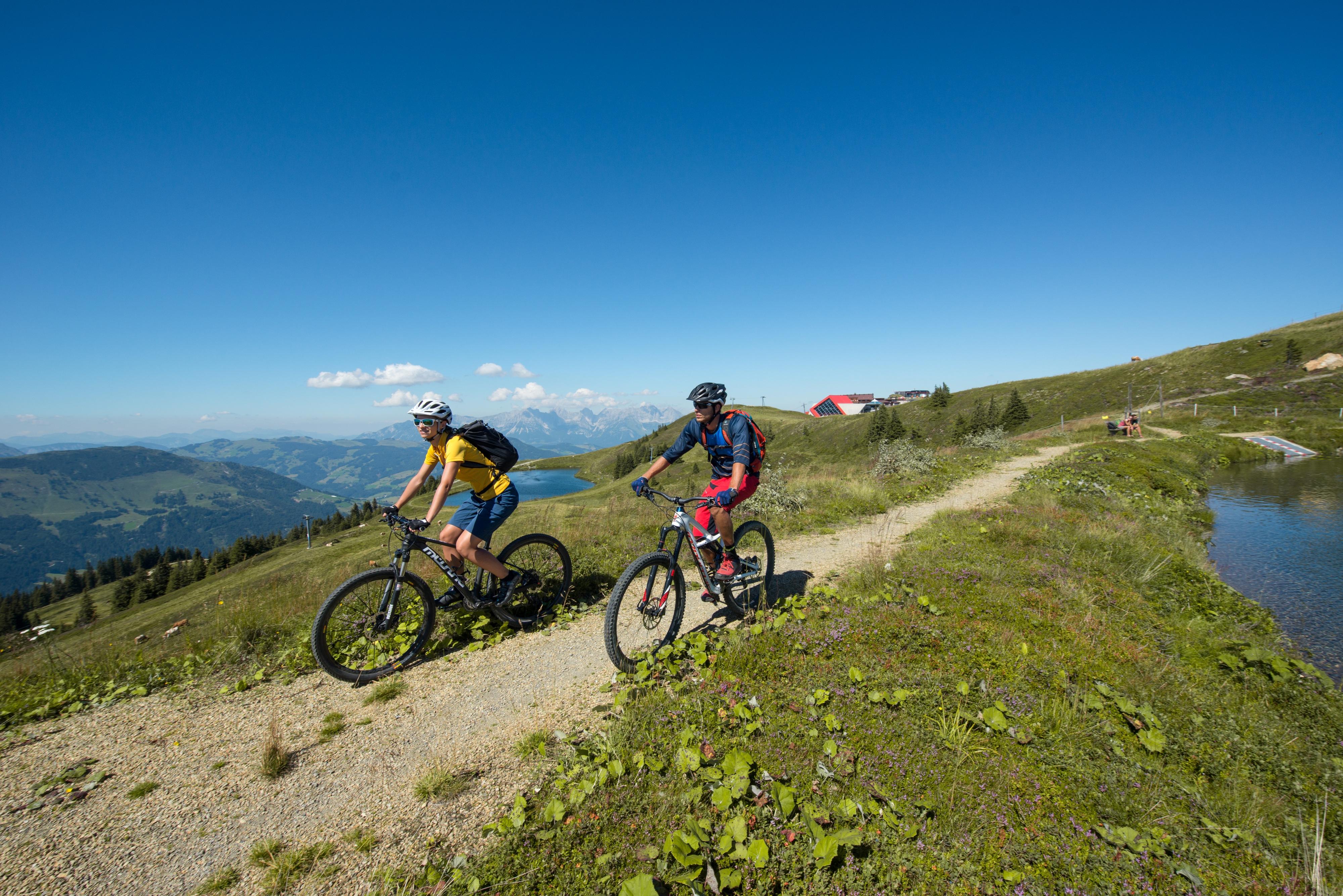 Biken Sommer Seen Kitzbühel Alpen