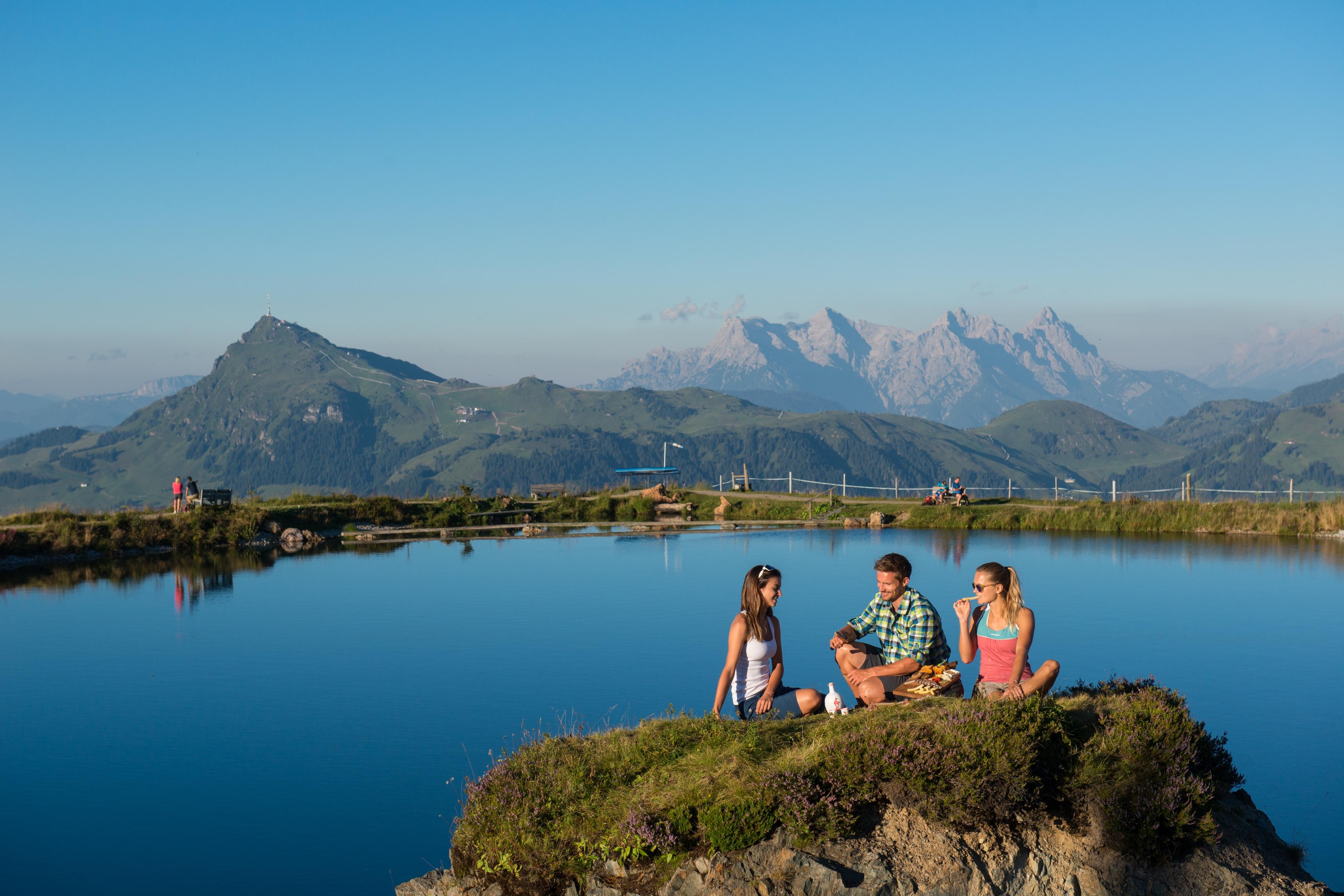 Essen am See Kitzbühel nach Wandern