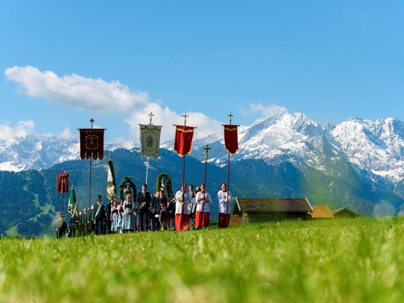 Fronleichnam in Farchant Zugspitzland