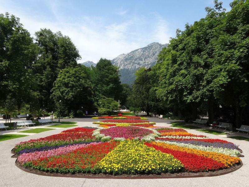 Frühling Kurgarten Feier Jubiläum 150 Jahre Bad Reichenhall Blumen Park Kur