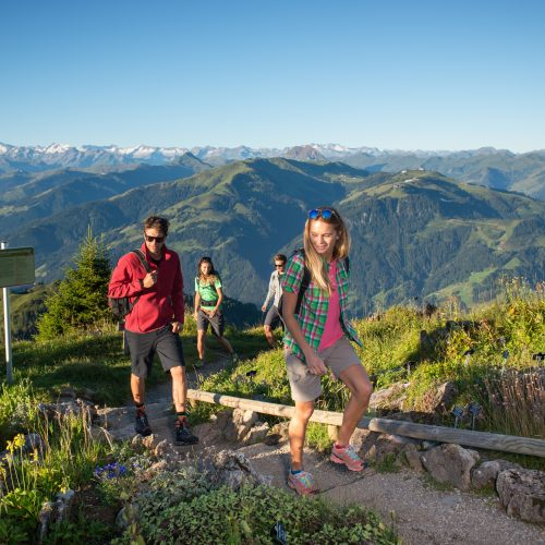 Kitzbühel Wandern mit Alpenblick