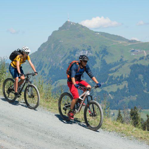 Biken Kitzbühel Berg hinunter bergab