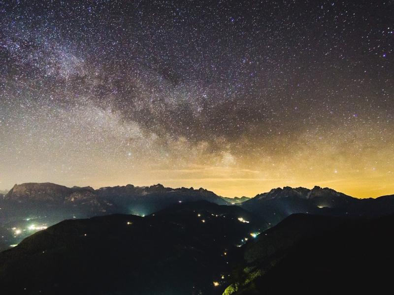 Sternenhimmel Nachthimmel Sternendorf Eggental