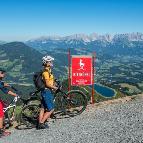 Bergauf schieben Fahrradfahren Kitzbühel Mausefalle