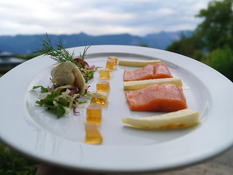 Kulinarischer Genuss Fisch Vorspeise Salat