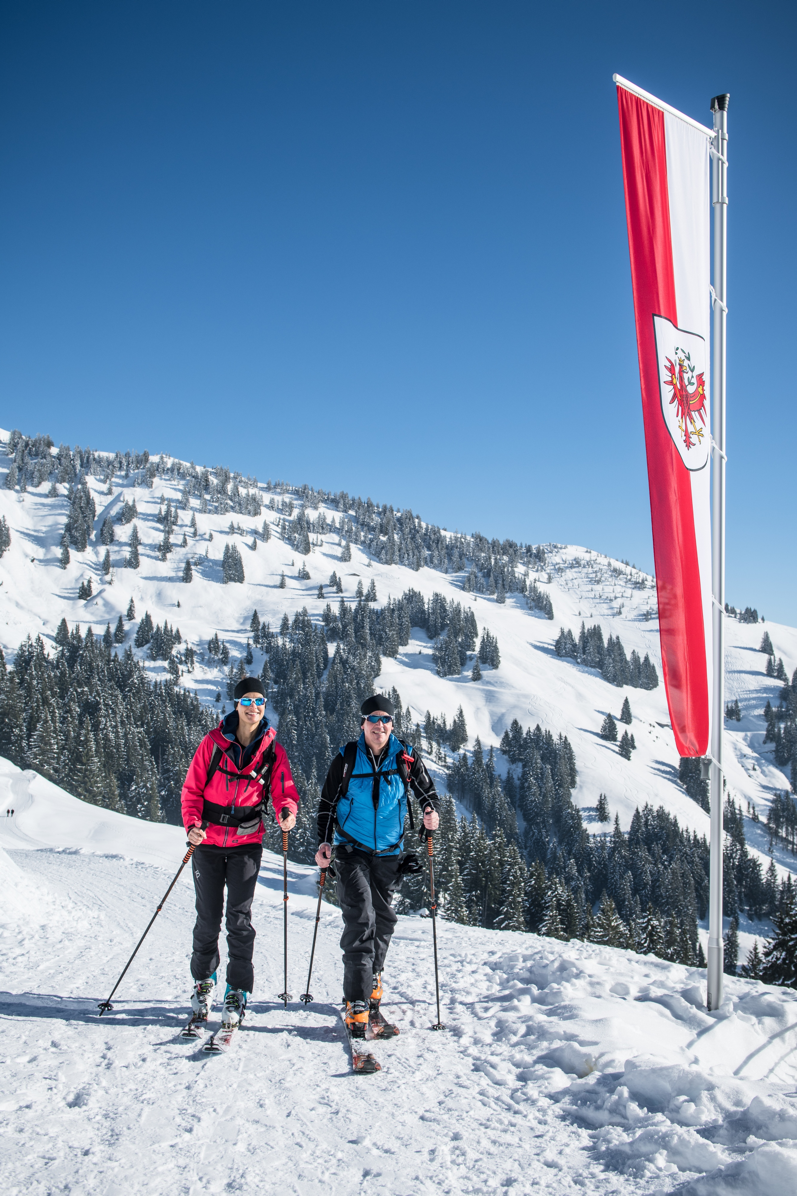 Langlaufen Paar Wintersport Kitzbühel