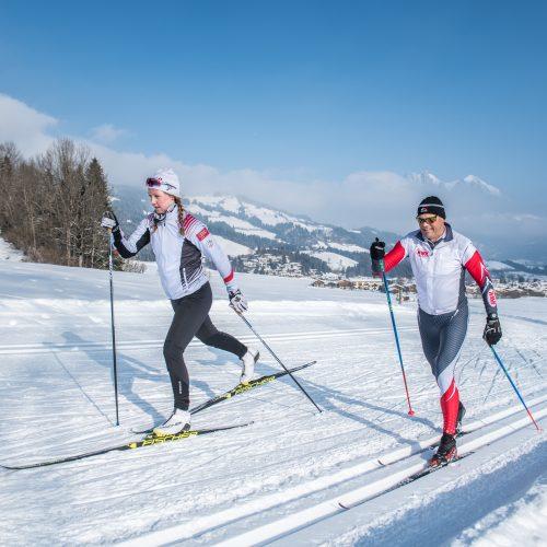 Langlauf Skating und Klassisch Technik Mann und Frau Kitzbühel Sport