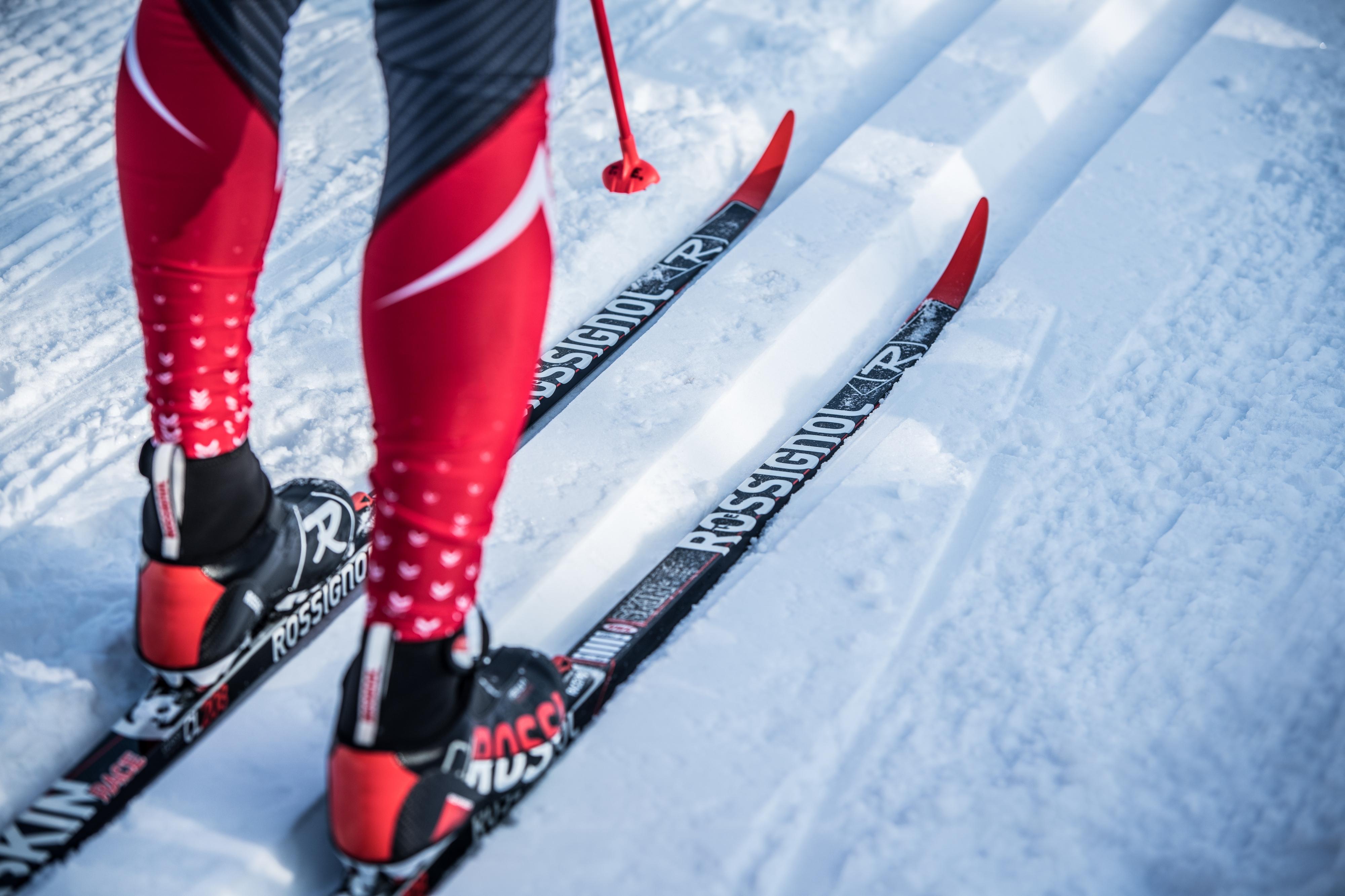 Langlauf Ski Ausrüstung Winter Sport