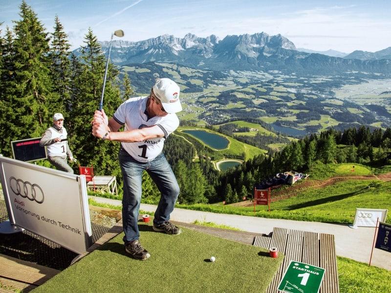 Streif Attack Golfen in Kitzbühel
