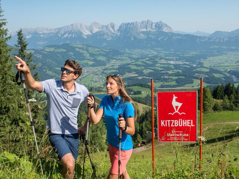 Berg Paar Wanderung