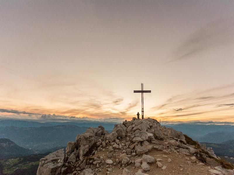Sonnenuntergang Weißhorn Berg