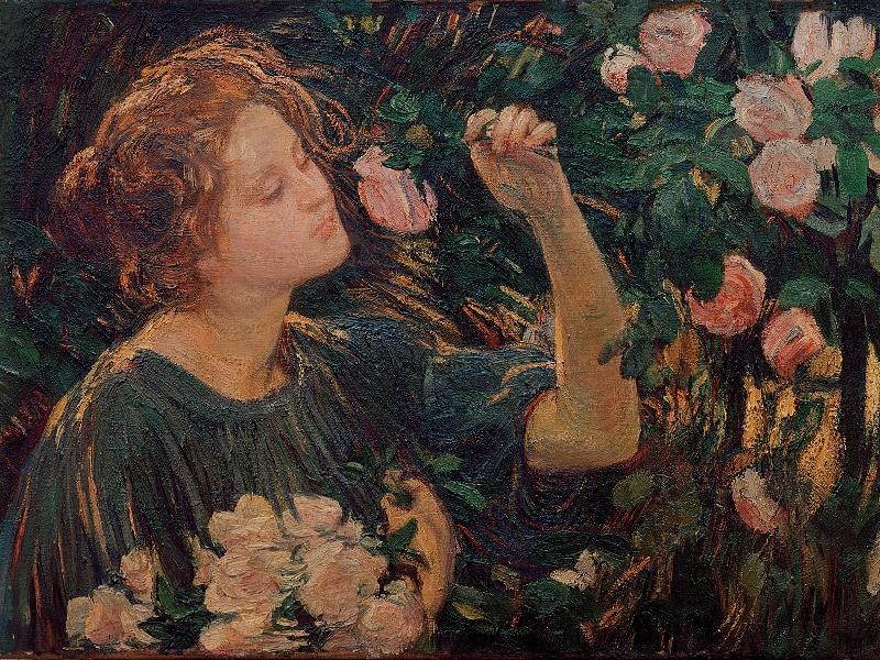 Frau Blumen Gemälde Schloßmuseum Murnau Jubiläum Ausstellung