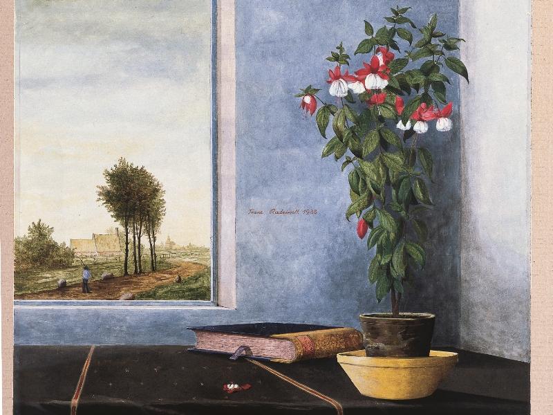 Stilleben Fenster Blume Franz Radziwill Schloßmuseum 25 Jubiläum Murnau