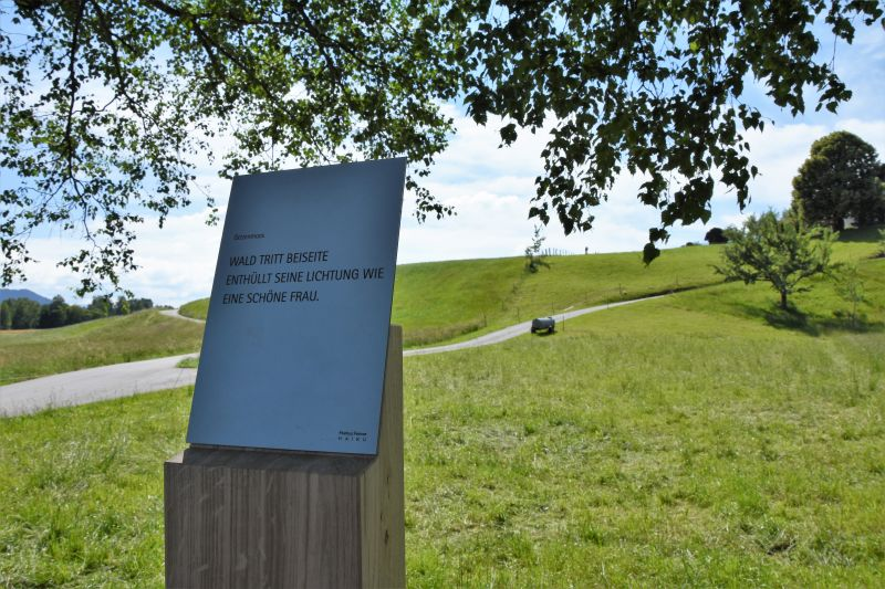 Haikuweg, Natur, Sport, Genuss, Tafel