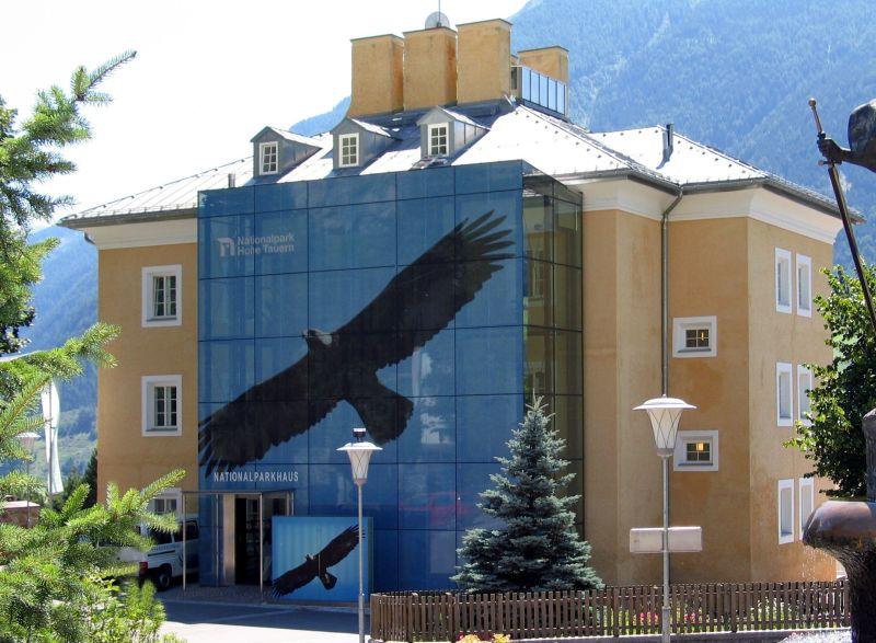 Haus, Adler, Glasfenster, Berge