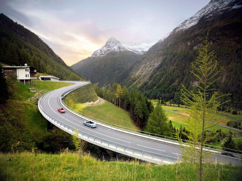 Felbertauernstraße Berge Autos Aussicht