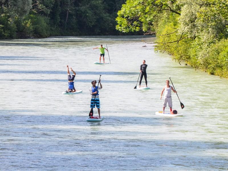 SUP-Tour Fluss