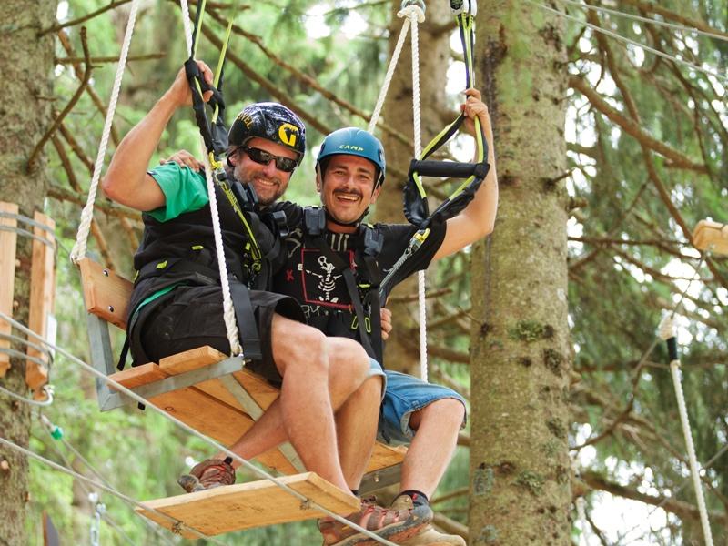 Kletterer Kletterwald