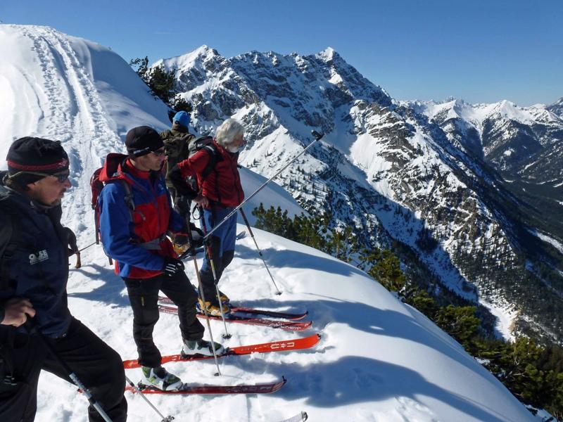Geführte Skitour durch die Ammergauer Alpen, Erlebnisplattform, Sebastian Heckelmiller