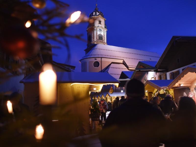 Christkindlmarkt am 15.12.2017 in Mittenwald(Bayern). Foto: Angelika