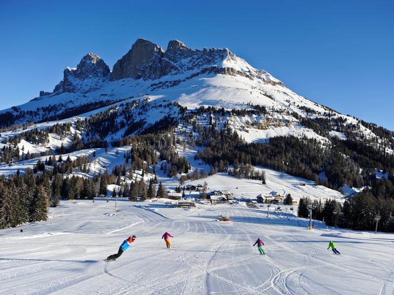 Skifahren, Carezza, Eggental, Südtirol