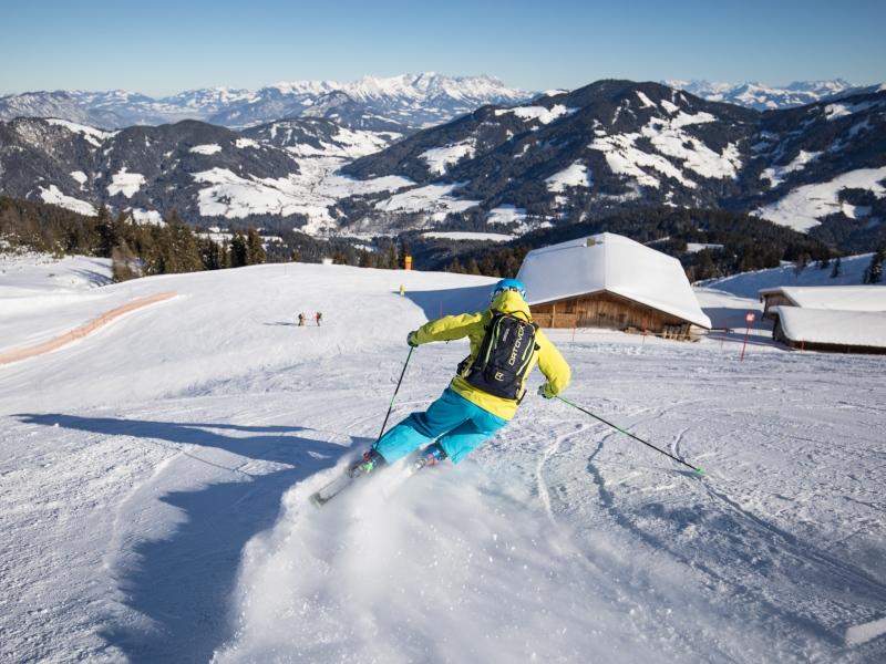 Skifahrer in der Wildschönau