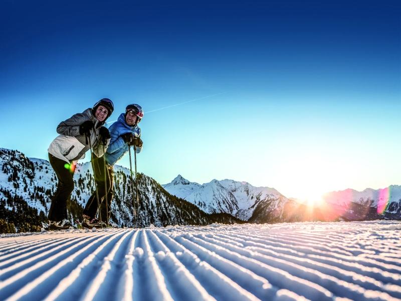 Frühaufsteher Skifahren Hochzeiger im Pitztal