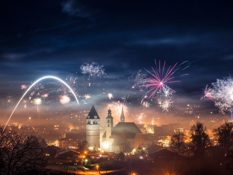 Feuerwerk an Silvester in Kitzbühel 2019