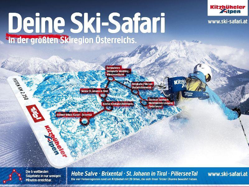 Keyvisual Skisafari, Kitzbueheler Alpen