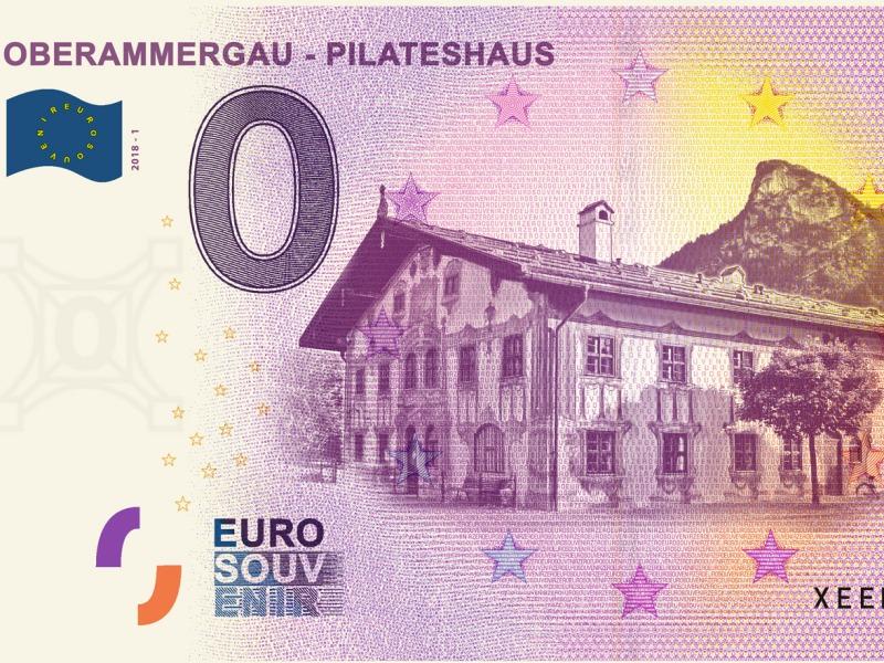 Null-Euro-Schein, Oberammergau, Ammergauer Alpen GmbH