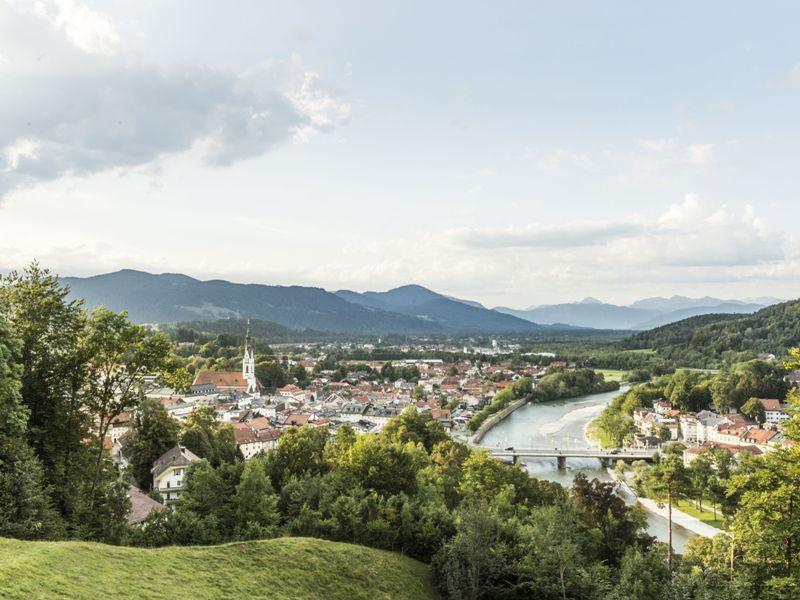 Stadt Bad Tölz im Sommer