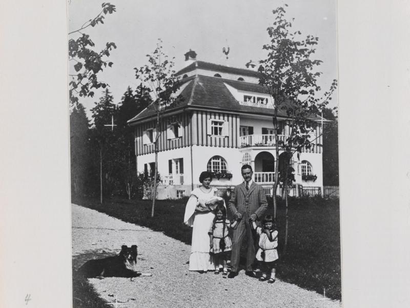 Thomas Mann historisches Bild mit Familie in Bad Tölz