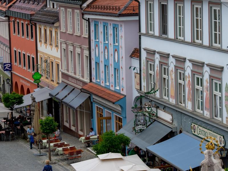 Fassaden Murnauer Markt nach Design von Emanuel von Seidl