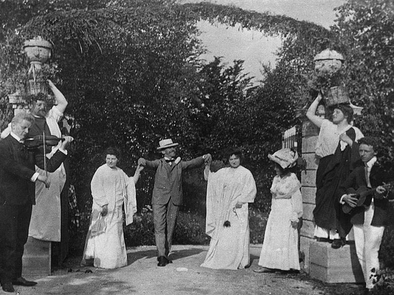 Seidl mit Gaesten vor 1913 Bildarchiv Schlossmuseum Murnau