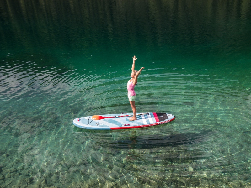 Stand Up Paddleboard Yoga im zwei-seen-land