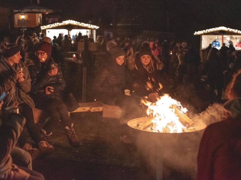 Lagerfeuer magischer Advent Pillerseetal