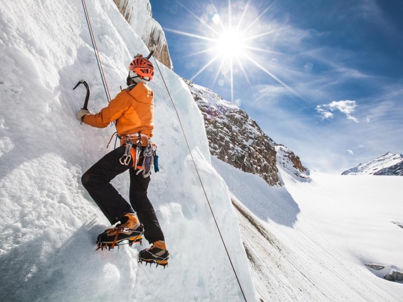 Pitztal Gletscher Eiskletterer