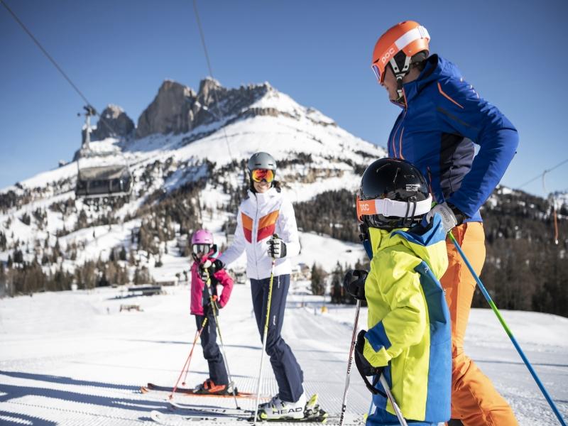 Familie, Skifahren, Berg