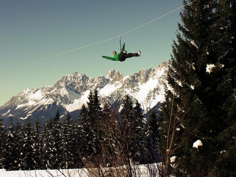 Flying Fox Berge Bäume Mann