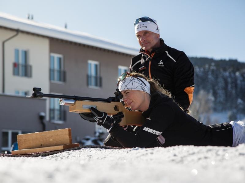 Biathlon Trainer Gäste Frau Gewähr