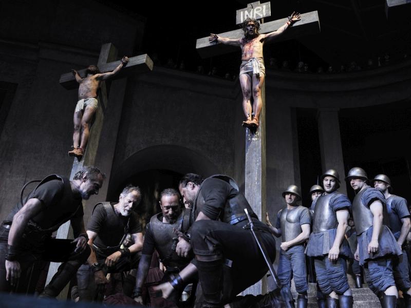 Kreuzigung Passionsspiele 2010